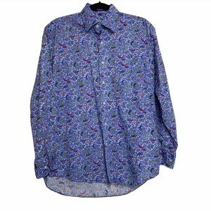 Alan Flusser Blue Paisley Button Up
